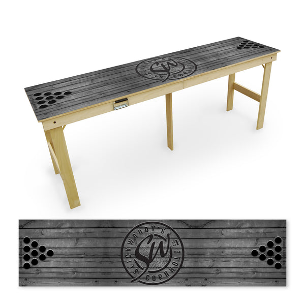 Grey Wood Tailgate Table