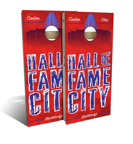 Canton Ohio Hall Of Fame City Cornhole Board Set Slick