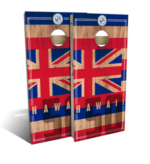 Hawaii State Flag 2.0 Cornhole Board Set (includes 8 bags)