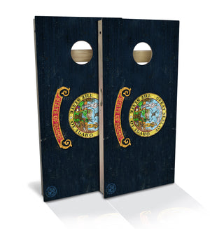 Idaho State Flag Cornhole Board Set