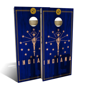 Indiana State Flag 2.0 Cornhole Board Set (includes 8 bags)