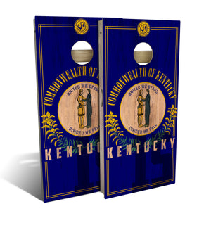 Kentucky State Flag 2.0 Cornhole Board Set (includes 8 bags)