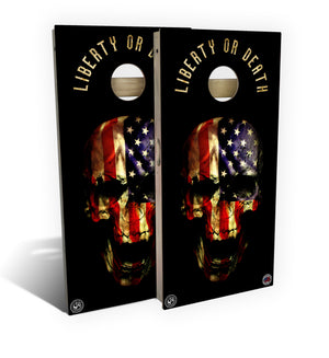 Liberty Or Death Cornhole Board Set (includes 8 bags)