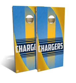 Los Angeles Chargers Football 2.0 Cornhole Board Set (includes 8 bags)