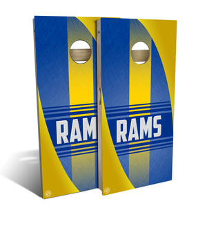Los Angeles Rams Chargers Football 2.0 Cornhole Board Set (includes 8 bags)