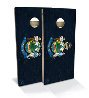 Maine State Flag Cornhole Board Set (includes 8 bags)