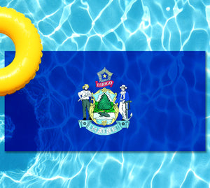 Maine State Flag Underwater Pool Mat
