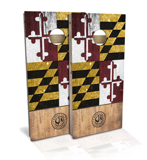 Maryland State Flag Cornhole Board Set