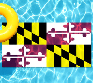 Maryland State Flag Pool Tattoo