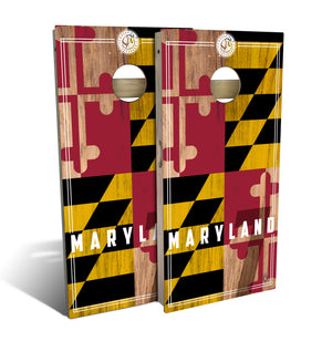 Maryland State Flag 2.0 Cornhole Board Set (includes 8 bags)
