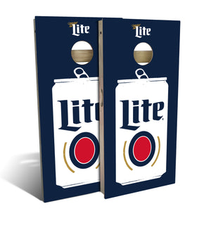 Miller Lite Flat Can Cornhole Board Set