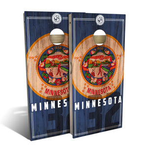 Minnesota State Flag 2.0 Cornhole Board Set (includes 8 bags)