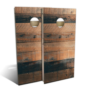 Country Living Mixed Reclaimed Shiplap Cornhole Board Set (includes 8 bags)