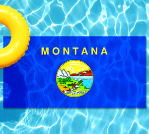 Montana State Flag Pool Tattoo