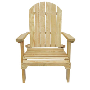 Collapsible Adirondack Chair – Natural, made of 100% treated pine