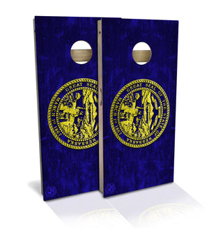 Nebraska State Flag Cornhole Board Set