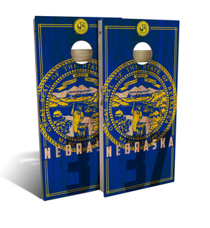 Nebraska State Flag 2.0 Cornhole Board Set (includes 8 bags)