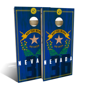 Nevada State Flag 2.0 Cornhole Board Set (includes 8 bags)