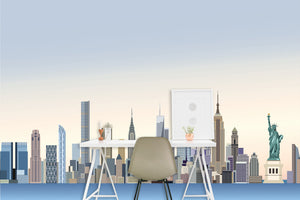 New York Skyline 1 Accent Wall