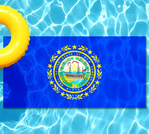 New Hampshire State Flag Pool Tattoo