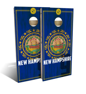 New Hampshire State Flag 2.0 Cornhole Board Set (includes 8 bags)