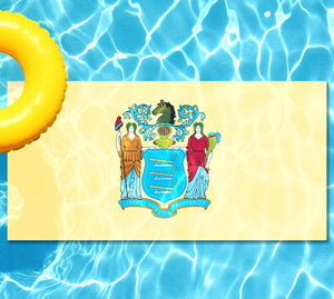 New Jersey State Flag Pool Tattoo