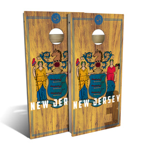 New Jersey State Flag 2.0 Cornhole Board Set (includes 8 bags)
