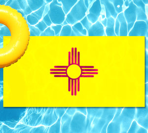 New Mexico State Flag Pool Tattoo
