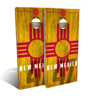 New Mexico State Flag 2.0 Cornhole Board Set (includes 8 bags)