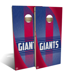 New York Giants 2.0 Cornhole Board Set (includes 8 bags)