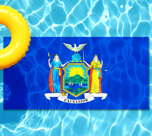 New York State Flag Pool Tattoo