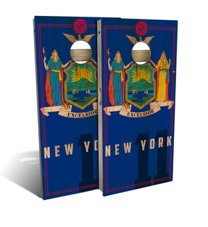 New York State Flag 2.0 Cornhole Board Set (includes 8 bags)