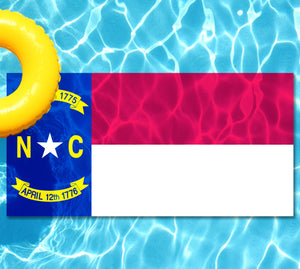 North Carolina State Flag Pool Tattoo
