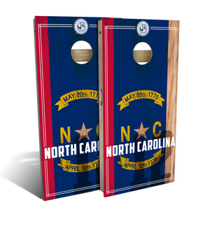 North Carolina State Flag 2.0 Cornhole Board Set (includes 8 bags)
