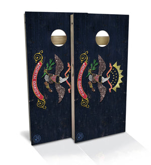 North Dakota State Flag Cornhole Board Set