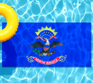 North Dakota State Flag Pool Tattoo