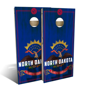 North Dakota State Flag 2.0 Cornhole Board Set (includes 8 bags)