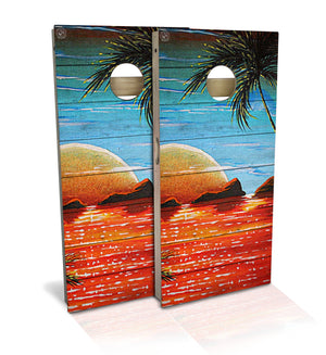 Ocean Sunset Cornhole Board Set