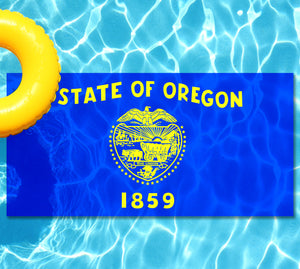 Oregon State Flag Pool Tattoo