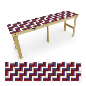 Country Living Patriotic Wood Pattern Tailgate Table