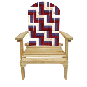 Country Living Patriotic Wood Adirondack Chair