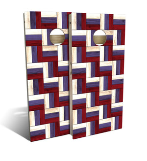Country Living Patriotic Wood Cornhole Board Set (includes 8 bags)