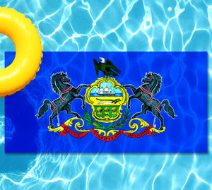 Pennsylvania State Flag Pool Tattoo