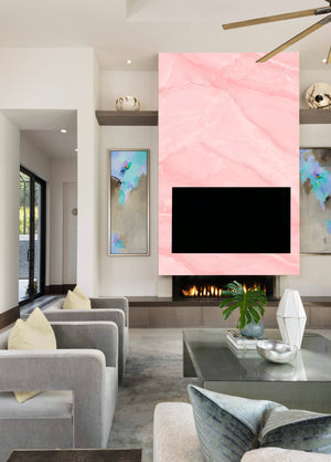 Pink Marble Accent Wall