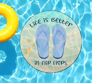 Life Is Better In Flip Flops Underwater Pool Mat Tattoo