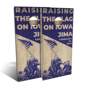 Raising The Flag on Iowa Jima Cornhole Set