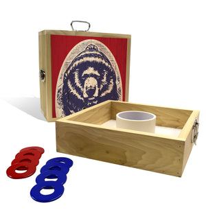 Red White & Bear Washer Toss Game