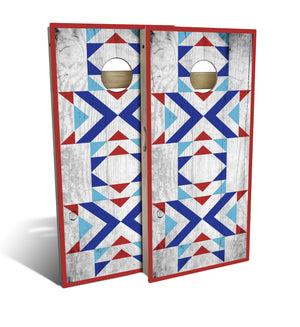 Country Living Patriotic Path Cornhole Board Set (includes 8 bags)