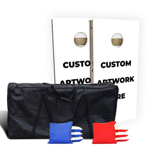 Custom Regulation Wood Cornhole Set Bundle (Includes Carry Bag & Pro Bags)