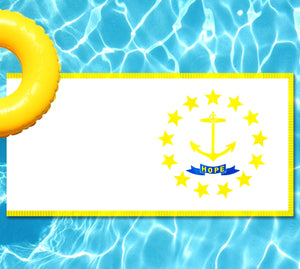 Rhode Island State Flag Pool Tattoo